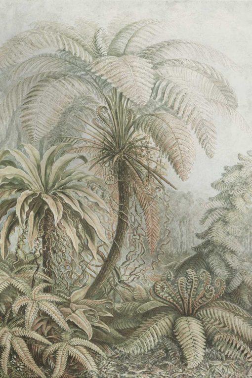 Botaniczna fototapeta z egzotycznym motywem do jadalni