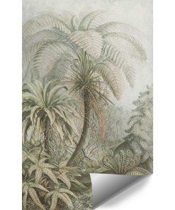 Botaniczna fototapeta z egzotycznym motywem do przedpokoju