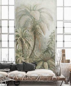 Botaniczna fototapeta z egzotycznym motywem do salonu
