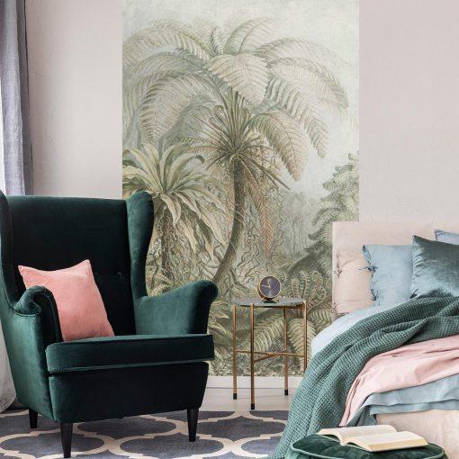 Botaniczna fototapeta z egzotycznym motywem do sypialni