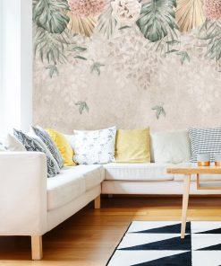 Finezyjna foto-tapeta z pastelową chryzantemą do salonu
