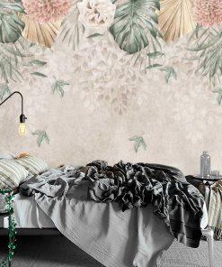 Finezyjna foto-tapeta z pastelową chryzantemą do sypialni