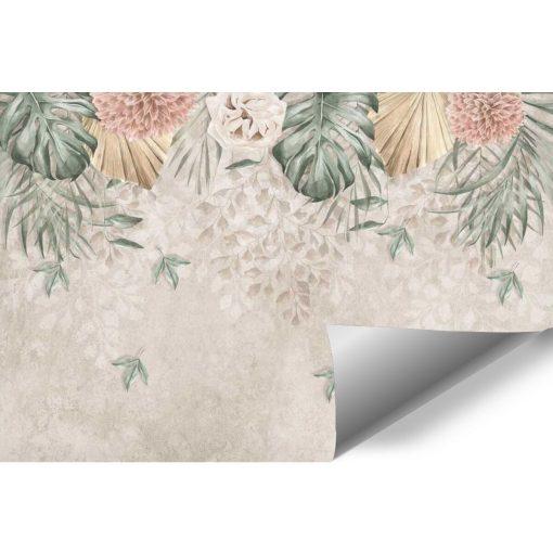 Finezyjna foto-tapeta z pastelową chryzantemą na przedpokój