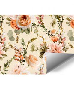 Finezyjna tapeta w kwiaty do pokoju