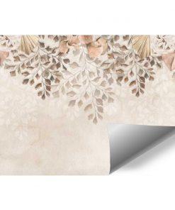 Foto-tapeta boho w delikatne kwiaty do salonu kosmetycznego