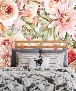 Foto-tapeta z kwiatuszkami do sypialni