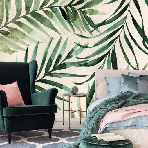 Foto-tapeta z palmowymi gałązkami