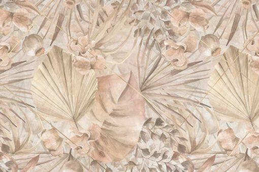 Foto-tapeta z roślinnym ornamentem do salonu kosmetycznego