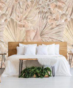 Foto-tapeta z roślinnym ornamentem do sypialni