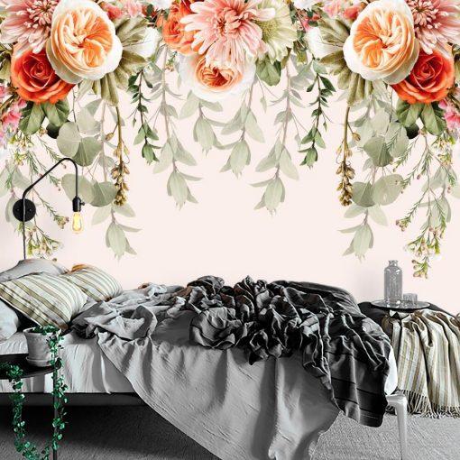 Fototapeta - Róże i chryzantemy do sypialni