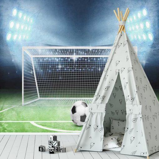 Fototapeta sportowa - Boisko piłkarskie dla rodzeństwa