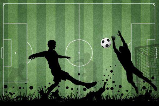 Fototapeta z piłką dla miłośnika footballu
