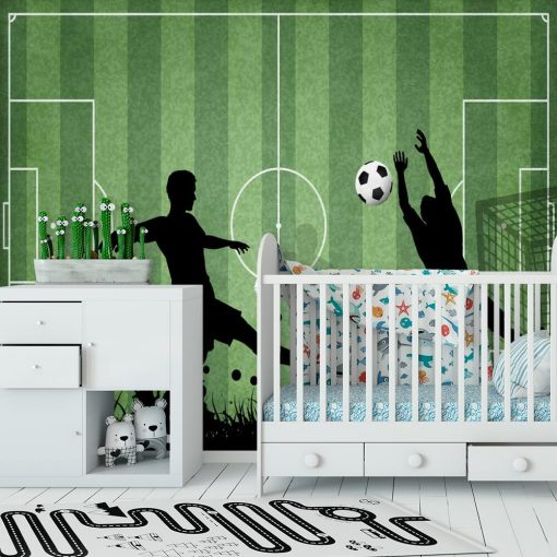 Fototapeta z piłką nożną dla przedszkolaka