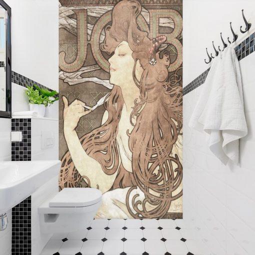 Fototapeta z reprodukcją dzieła Alfonsa Muchy - Job do łazienki