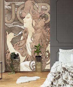 Fototapeta z reprodukcją dzieła Alfonsa Muchy - Job do sypialni