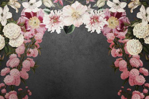 Girlandy kwiatów na tapecie