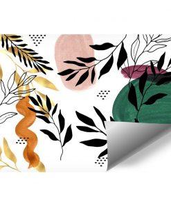 Kolorowa foto-tapeta z gałązkami