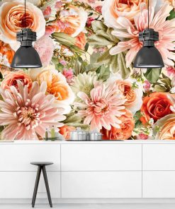Kwiatowa fototapeta botaniczna do jadalni