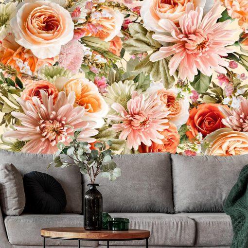 Kwiatowa fototapeta botaniczna do salonu