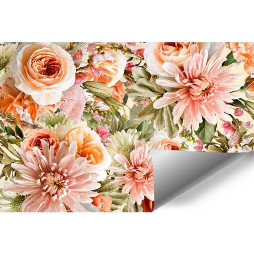 Kwiatowa fototapeta botaniczna do sypialni