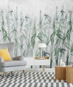 Nowoczesna fototapeta z bambusami do salonu