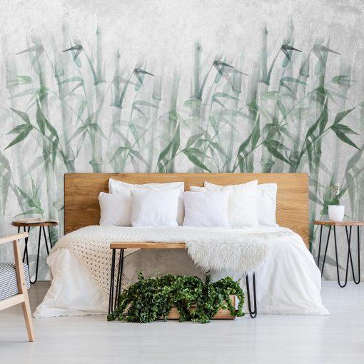 Nowoczesna fototapeta z bambusami do sypialni