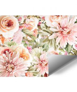 Pastelowa fototapeta z motywem kwiatów