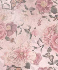 Różowa foto-tapeta botaniczna