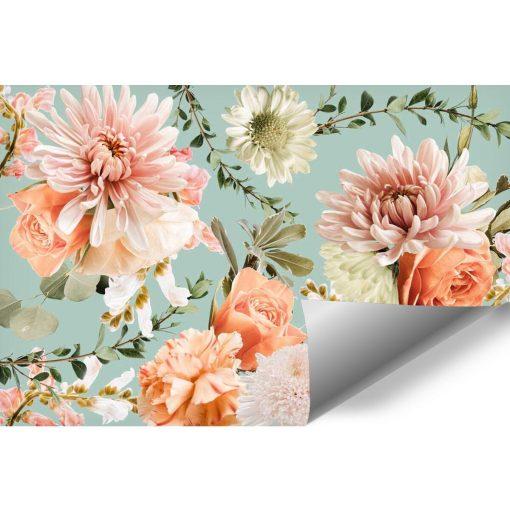 Subtelna foto-tapeta z różami do gabinetu kosmetycznego