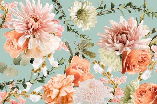 Subtelna foto-tapeta z różami