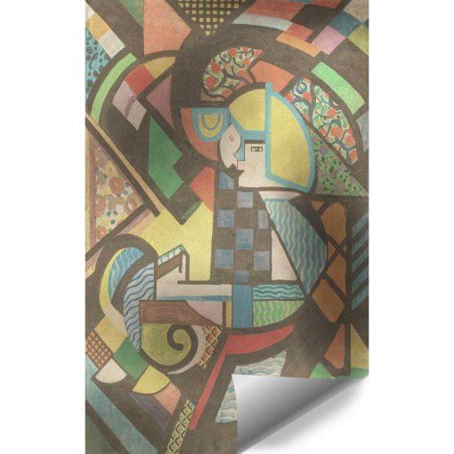Tapeta abstrakcyjna w spokojnych kolorach