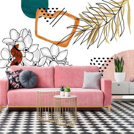 Tapeta w kolorach ziemi do dekoracji salonu