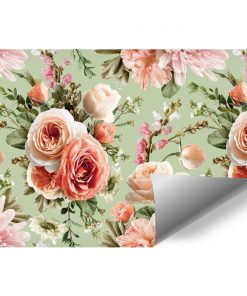 Tapeta z kwiatową kompozycją - Róże do salonu