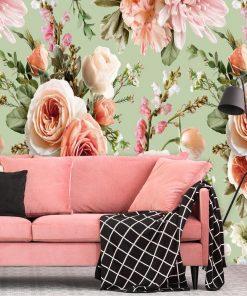 Tapeta z kwiatową kompozycją - Róże do salonu kosmetycznego