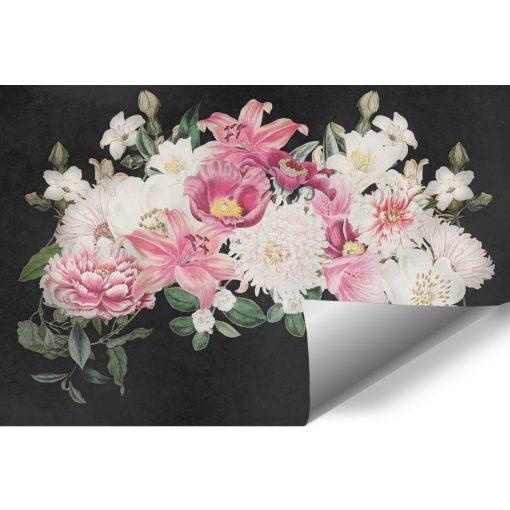 Tapeta z kwiatowym stroikiem