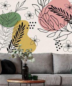 Tapeta z kwiatuszkami i abstrakcją