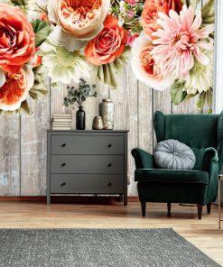Tapeta z motywem florystycznym do sypialni