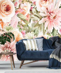 Tapeta z różami do ozdoby sypialni