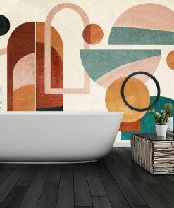 Fototapeta z geometrycznymi wzorami do łazienki