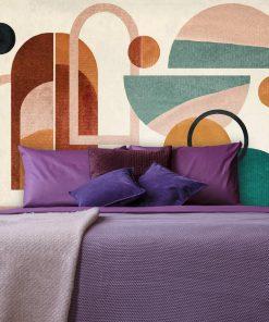Fototapeta z geometrycznymi wzorami do sypialni