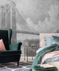Fototapeta z mostem brooklińskim do przedpokoju