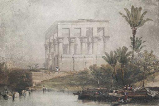 Fototapeta ze świątynią w Egipcie
