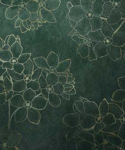 Tapeta - Konturowe kwiaty