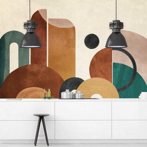 Tapeta z kolorową abstrakcją do kuchni