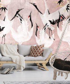 Fototapeta grupa ptaków do dekoracji sypialni