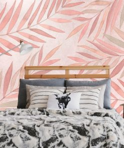 Fototapeta w różowe liście do sypialni