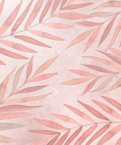 Fototapeta w różowe liście