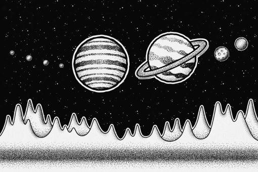 Fototapeta z planetami Układu Słonecznego