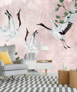 Fototapeta z ptakami do dekoracji salonu