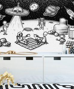 Fototapeta z ufoludkami i astronautami